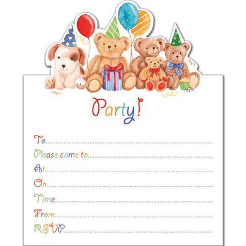Soft Toys Invitation (Pack of 10 note cards)