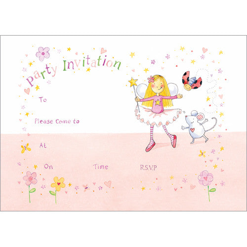 Star, Squeak and Dot Invitation (Pack of 10 note cards)