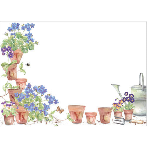 Thank You Flower Pots (Pack of 10 note cards)