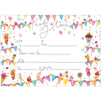 Time to Party Invitation (Pack of 10 note cards)