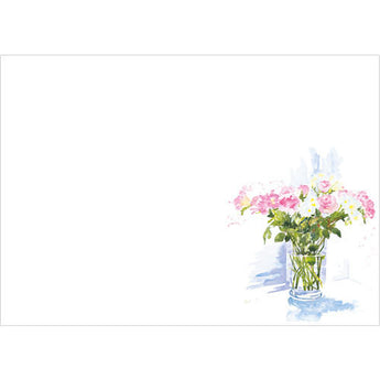 Vase of Pink Flowers (Pack of 10 note cards)
