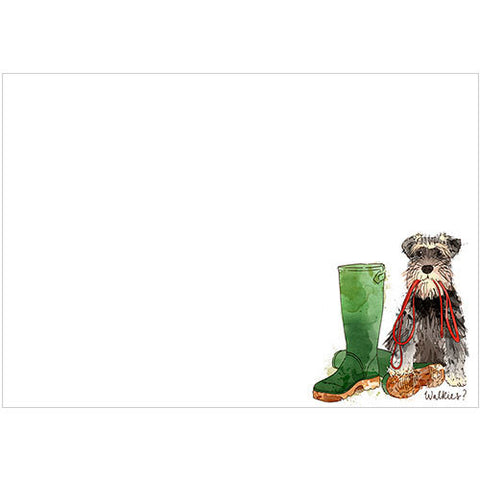 Walkies? (Pack of 10 note cards)