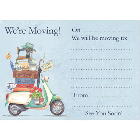 We're Moving! (Pack of 10 note cards)