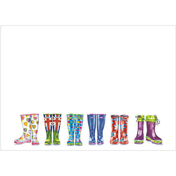 Wellington Boots (Pack of 10 note cards)