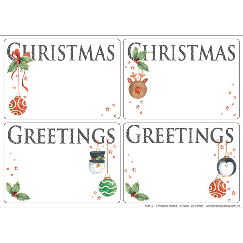 Labels - Festive Baubles (pack of 24 labels)
