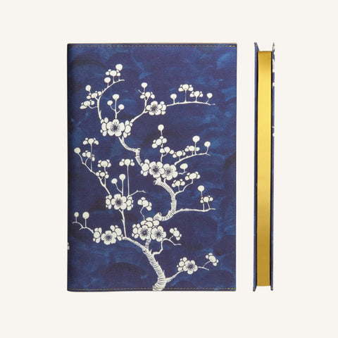 Flower Wow Lined Notebook A5 - Ceramic Blue