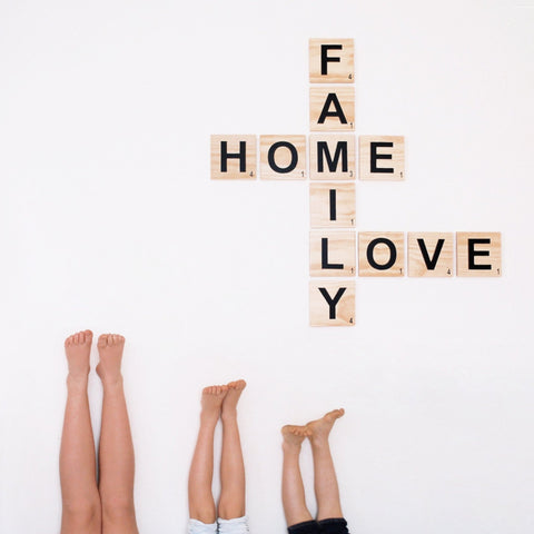 'FAMILY, HOME, LOVE' SCRABBLE WALL ART