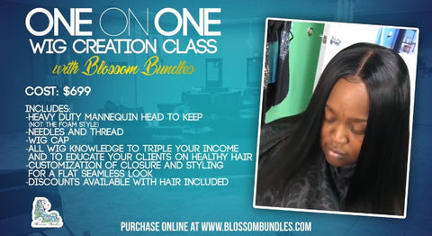 HANDS ON WIG MAKING CLASS *HALF DEPOSIT*