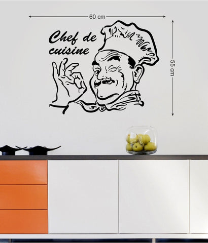 Kitchen Stylish Design Chef De Cuisine Restaurant Hotel DIY Vinyl Art