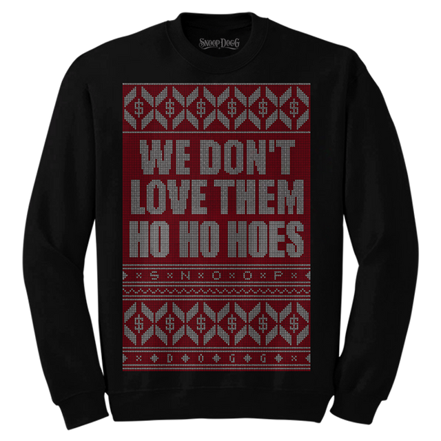 Ho Ho Hoes Christmas Sweater (Black)