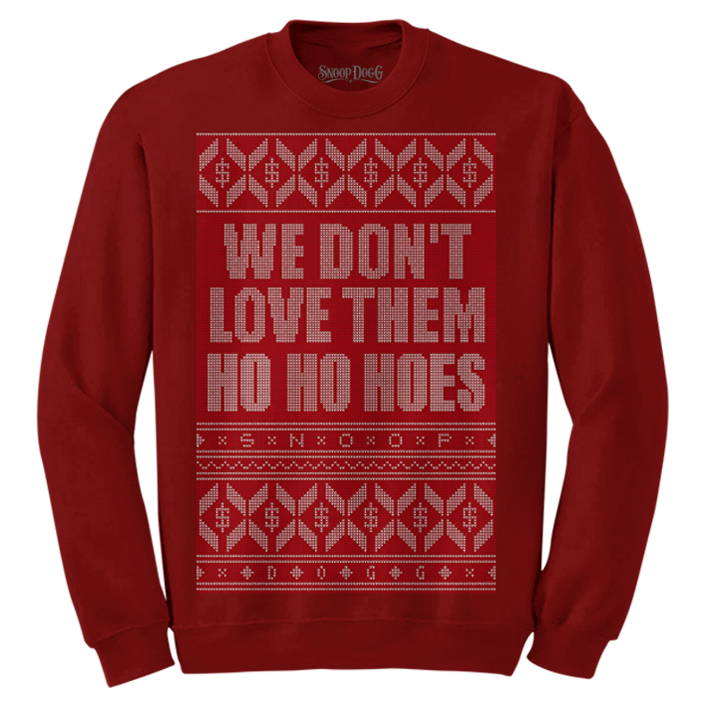 Ho Ho Hoes Christmas Sweater (Red)