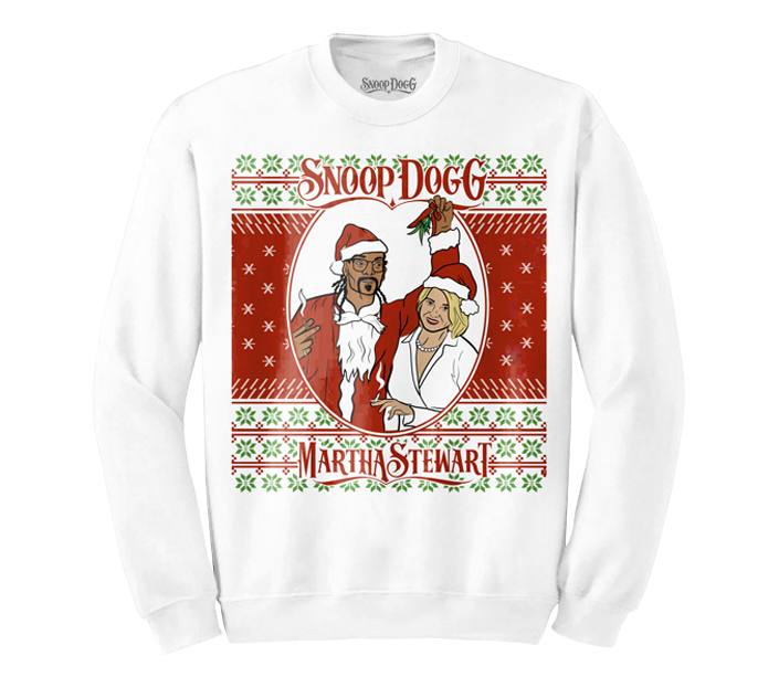 Snoop & Martha Christmas Sweater (White)