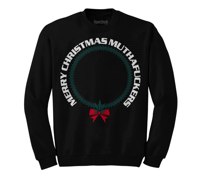 Merry Mutha Christmas Sweater (Black)