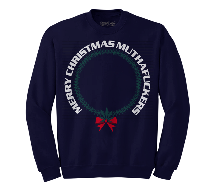 Merry Mutha Christmas Sweater (Navy)