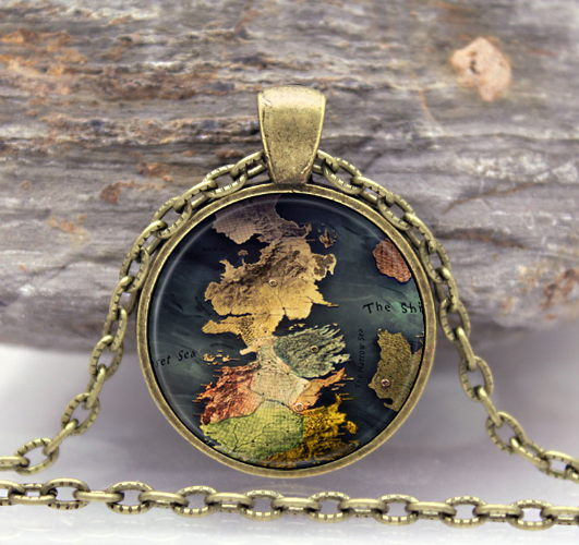 Game of Thrones House of Stark Black Wolf Pendant Necklace