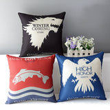"18"" Square Game of Thrones Cotton Linen Cushion Cover - 10DollarCart"
