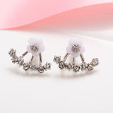 Korean Imitation Pearl Small Daisy Flowers Earrings