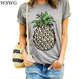 Designer Grey Round Neck Short Sleeve Printed Top