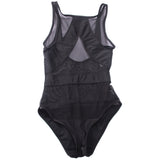 Black Mesh Sheer Monokini One Piece Transparent Bodysuit Bikini