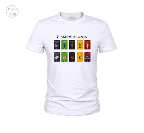 Game of Thrones Houses Symbol Cotton T-Shirts
