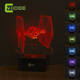 Star Wars Tie Fighter 3D LED Decor Night Light