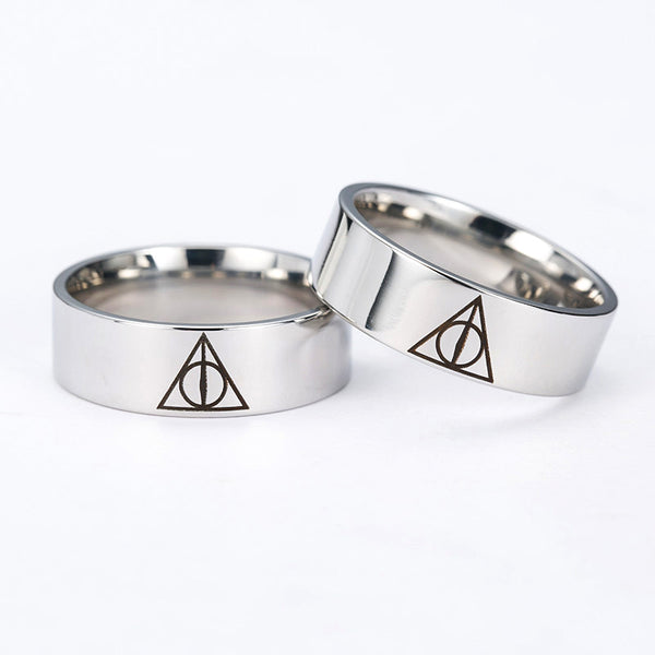 Harry Potter Deathly Hallows Titanium Steel Rings