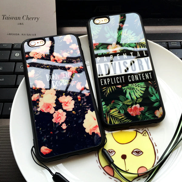 Beautiful Flower Pattern & Grass Advisory Soft Silicone iPhone Case - 10DollarCart