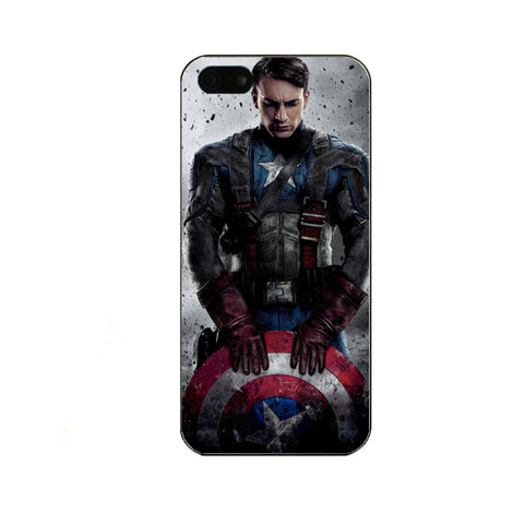 Hard Matte Printed Captain America, Iron Man, & Deadpool Design Phone Cases For iPhone 5/5s/SE