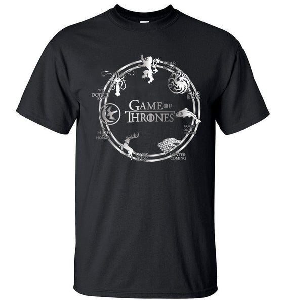 Game of Thrones Quote Wheel Men T-Shirt