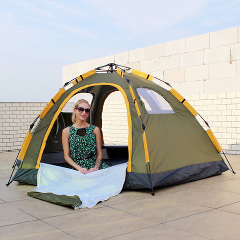 ... 6 Person Large Automatic Pop Up Waterproof C&ing Instant Tent ...  sc 1 st  10DollarCart & 6 Person Large Automatic Pop Up Waterproof Camping Instant Tent ...