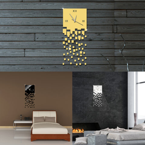 New 3D Luxury DIY Wall Clock Acrylic Mirror Stickers For Home Decoration - 10DollarCart