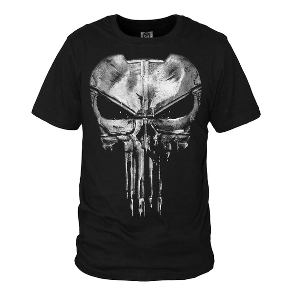 The Punisher Logo Printed Black T-Shirt