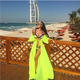 One Size Beach Outings Cover up Chiffon For Women