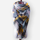 Winter Cashmere Pashmina Plaid Designer Blanket Acrylic Warm Scarf For Women - 10DollarCart