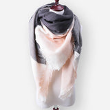 Winter Cashmere Pashmina Plaid Designer Blanket Acrylic Warm Scarf For Women