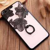 New Luxury Flower iPhone case Lace Metal Ring Holder Stand - 10DollarCart