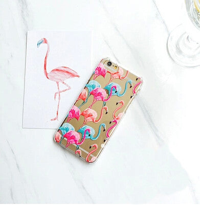 Love Flower Cute Bird Flamingo Case Cover For Apple iPhone 6/6s