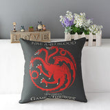 "18"" Square Game of Thrones Cotton Linen Cushion Cover"