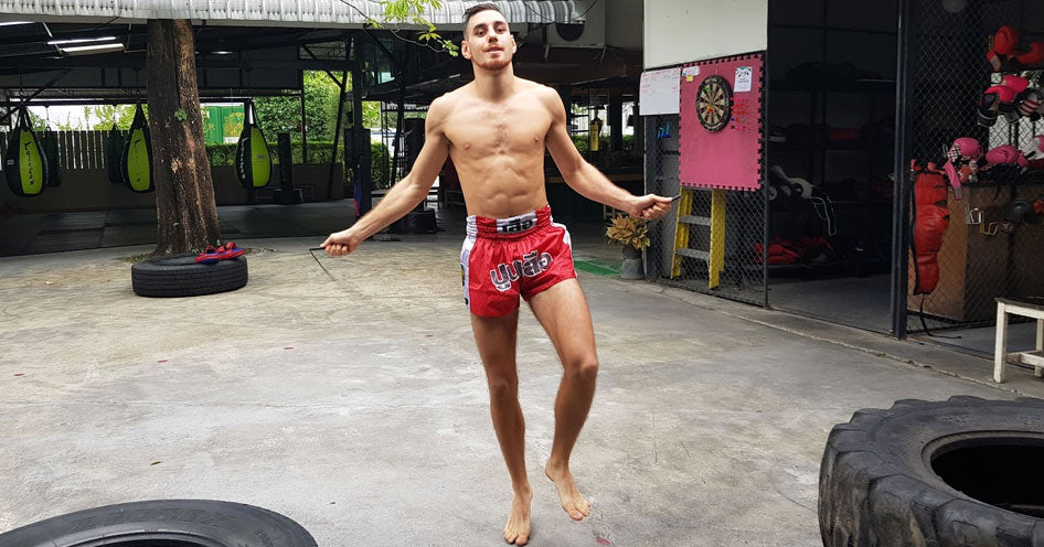 Muay Thai Fighter on the rope