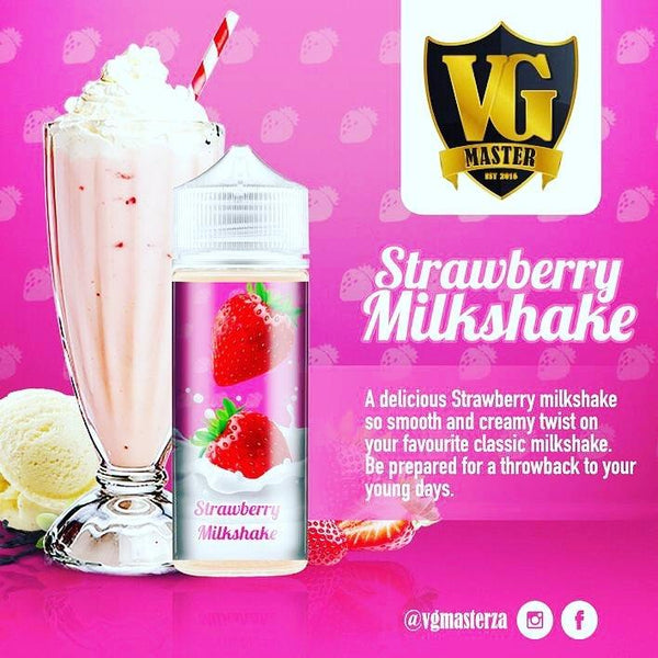Strawberry Milkshake - 120ml - 2mg by VG Master