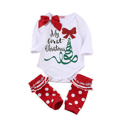 My First Christmas Baby Clothes Set - Shop Now at www.appleandjuice.com
