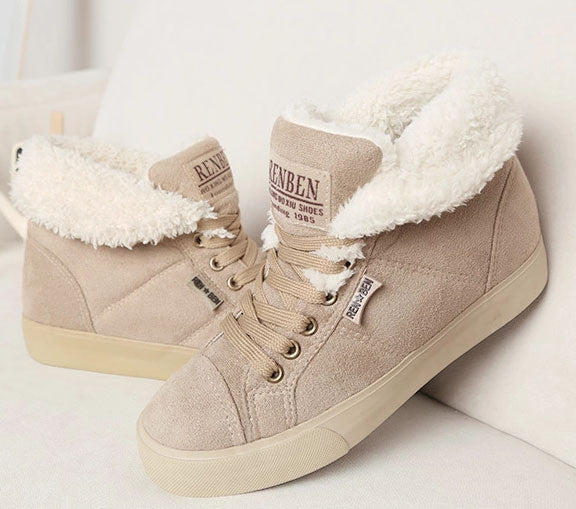 Low Cut Fur Sneakers - Shop Now at www.appleandjuice.com