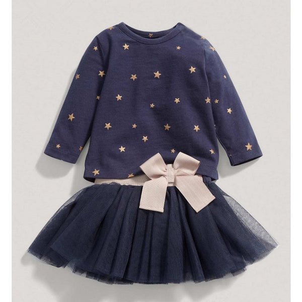 Midnight Blue Starry Tutu Dress - Shop Now at www.appleandjuice.com