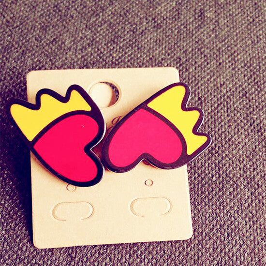 Acrylic 2D Stud Earrings - Shop Now at www.appleandjuice.com