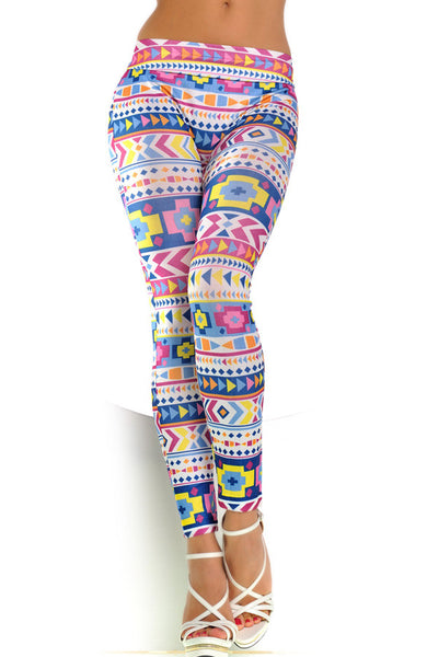 Pastel Geometric Leggings