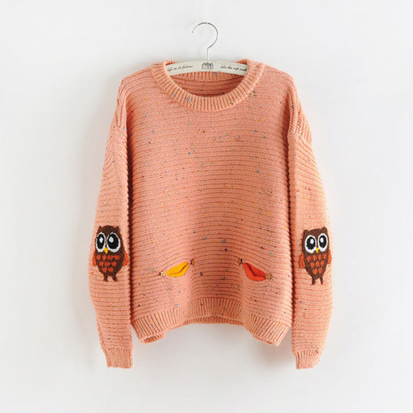 Autumn Owl Sweatshirt - Shop Now at www.appleandjuice.com