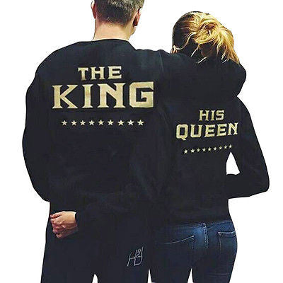 King And Queen Couple Sweatshirt - Shop Now at www.appleandjuice.com