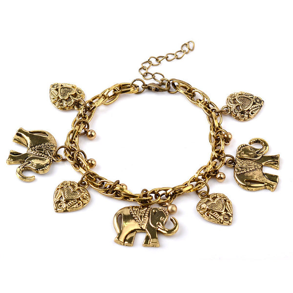 Elephant Heart Charm Bracelet - Shop Now at www.appleandjuice.com