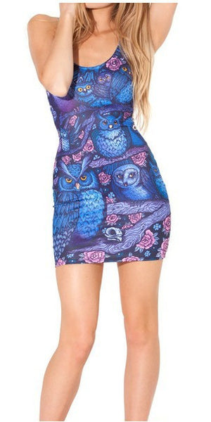 Midnight Owl Bandage Dress - Shop Now at www.appleandjuice.com