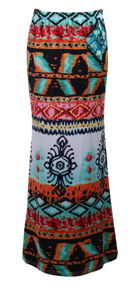 Boho Tribal Maxi Skirt - Shop Now at www.appleandjuice.com